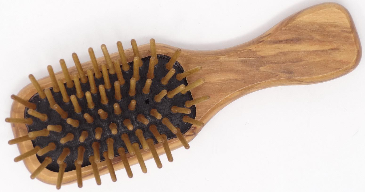 Mini Haarbürste aus Olivenholz